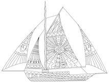 帆船成人的着色传染媒介 图库摄影