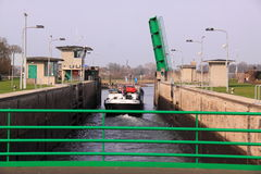 帆船水闸 库存图片