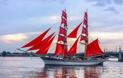 帆船的段落的排练在内娃的 免版税库存图片