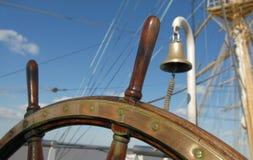 帆船的舵 免版税库存图片