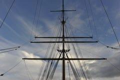 帆船的索具 免版税库存图片
