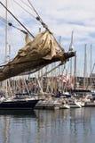 帆船船首斜桅 图库摄影