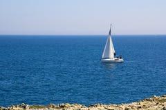 帆船,在地中海的航行 免版税库存照片