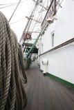 帆船绳索线 免版税库存图片