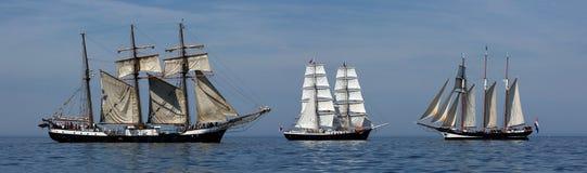 帆船- Hansesail 2015年-全景 库存图片