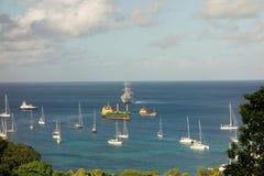 帆船windstar在海军部海湾 免版税库存照片