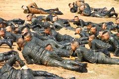师范训练军事学生 免版税库存图片