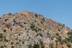 希俄斯海岛Anavatos希腊村庄  免版税库存照片