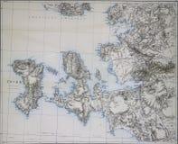 希俄斯爱琴海海岸海岛  图库摄影