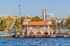 贝希克塔什Iskelesi伊斯坦布尔 免版税库存图片