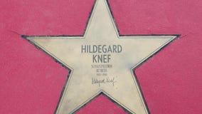 希尔德加德Knef,名望步行星大道der星的在柏林 股票视频