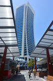 希尔顿冲浪者天堂旅馆英属黄金海岸昆士兰澳大利亚 免版税库存图片
