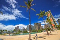 希尔顿夏威夷人村庄 免版税库存图片