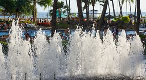 希尔顿夏威夷村庄威基基海滩胜地 免版税库存照片