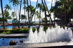 希尔顿夏威夷村庄威基基海滩胜地 库存图片