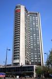 希尔顿旅馆运输路线伦敦公园 免版税图库摄影