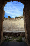希律王,雅典,希腊古老Odeon  库存照片