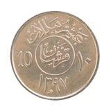 希拉勒沙特阿拉伯的硬币 库存图片