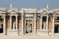 希拉波利斯剧院在土耳其 免版税库存图片