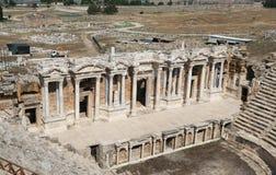 希拉波利斯剧院在土耳其 免版税库存照片