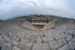 希拉波利斯古老剧院 免版税图库摄影