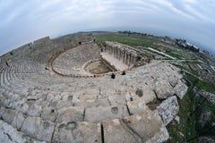 希拉波利斯古老剧院 库存图片