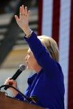 总统希拉里・克林顿出席 库存照片