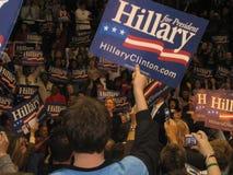 希拉里・克林顿的在Bowie州立大学的总统选举集会2008年 图库摄影