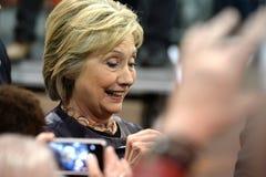 希拉里・克林顿竞选在圣路易斯,密苏里,美国 免版税图库摄影