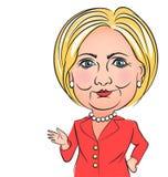 希拉里・克林顿讽刺画 免版税库存图片
