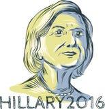 希拉里2016总统年Drawing 免版税图库摄影