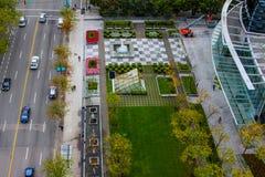 希拉顿墙壁中心,温哥华, BC 免版税库存图片