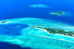 希拉顿马尔代夫满月海岛度假村&温泉 库存照片