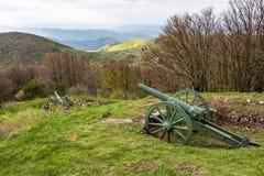 希普卡峰顶,巴尔干山脉,保加利亚 免版税库存图片