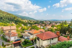 希普卡镇在保加利亚 免版税库存照片
