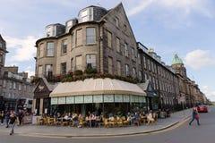 希望和Queensferry街的连接点在爱丁堡 库存照片