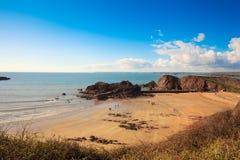 希望小海湾,南火腿,德文郡英国 免版税库存图片