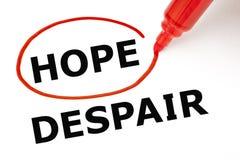 希望或绝望红色标志 免版税图库摄影
