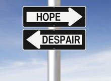 希望或绝望 向量例证