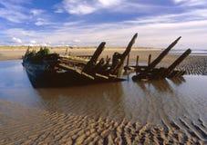 希望星形,船尾,遭受了海难1883年, Southport 免版税库存照片