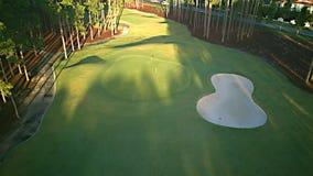希望海岛高尔夫球场,早晨光上午5点 库存照片