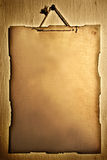 希望的停止的老纸海报葡萄酒墙壁 库存图片