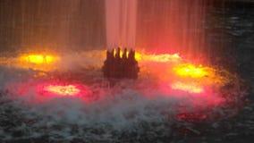希望的桃红色喷泉 图库摄影