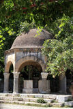 希波克拉底悬铃树的Plateia Ko的 库存图片