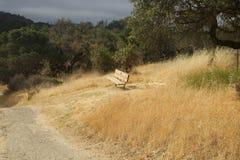 希洛大农场地方加利福尼亚 公园包括橡木森林地,混杂的常青树森林  库存图片