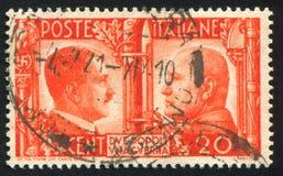 希特勒和墨索里尼 库存照片