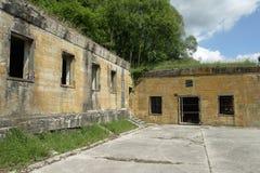 希特勒地堡在马尔吉瓦勒,埃纳省,在法国的北部的Picardie 库存照片