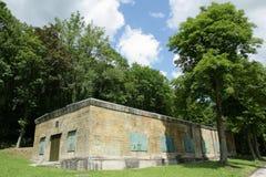 希特勒地堡在马尔吉瓦勒,埃纳省,在法国的北部的Picardie 免版税库存照片