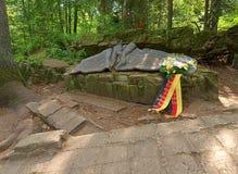 希特勒` s营房废墟  免版税库存图片