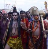 希瓦和Hanuman 免版税库存图片